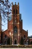 Καθολική εκκλησία του ST Πάτρικ, πρόσοψη, Σαν Φρανσίσκο, Ηνωμένες Πολιτείες της Αμερικής στοκ εικόνα με δικαίωμα ελεύθερης χρήσης