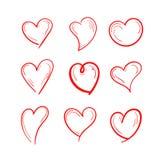 Καθορισμένο σχέδιο απεικόνισης αγάπης διανυσματική απεικόνιση
