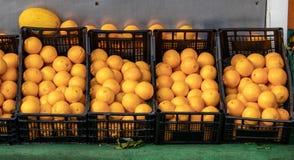 Καλάθια των φρέσκων πορτοκαλιών στοκ φωτογραφίες με δικαίωμα ελεύθερης χρήσης