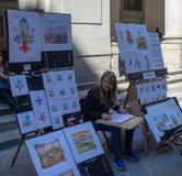 Καλλιτέχνες κατά μήκος των οδών της Φλωρεντίας στοκ εικόνα με δικαίωμα ελεύθερης χρήσης