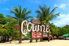 Καλωσορίστε στο νησί Cowrie στις Φιλιππίνες στοκ εικόνα με δικαίωμα ελεύθερης χρήσης