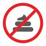 Κανένα εικονίδιο επίστεγων glyph, που απαγορεύεται και που απαγορεύουν, όχι περπάτημα του σημαδιού κατοικίδιων ζώων, διανυσματική διανυσματική απεικόνιση