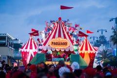 Καρναβάλι Viareggio, έκδοση του 2019 στοκ εικόνα