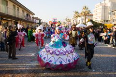 Καρναβάλι Viareggio, έκδοση του 2019 στοκ φωτογραφία με δικαίωμα ελεύθερης χρήσης