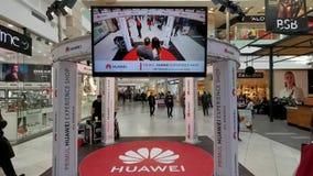Κατάστημα εμπειρίας Huawei στη λεωφόρο στη Ρουμανία φιλμ μικρού μήκους