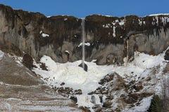 Καταρράκτης Hamrafoss το χειμώνα στοκ φωτογραφίες με δικαίωμα ελεύθερης χρήσης
