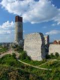 Καταστροφές του κάστρου Olsztyn στις φωλιές των αετών trailof στοκ φωτογραφία