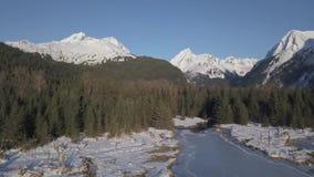 Καταπληκτική παγωμένη άποψη υγρότοπου στην από την Αλάσκα αγριότητα απόθεμα βίντεο