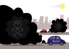 Καπνοί diesel στοκ εικόνα