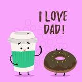 Κείμενο γραφής που γράφει τον μπαμπά αγάπης Ι Έννοια που σημαίνει τα καλά συναισθήματα για την ευτυχία αγάπης αγάπης πατέρων μου απεικόνιση αποθεμάτων