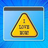 Κείμενο Ι γραψίματος λέξης αγάπη Mom Επιχειρησιακή έννοια για τα καλά συναισθήματα για την ευτυχία αγάπης αγάπης μητέρων μου ελεύθερη απεικόνιση δικαιώματος