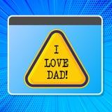 Κείμενο Ι γραψίματος λέξης μπαμπάς αγάπης Επιχειρησιακή έννοια για τα καλά συναισθήματα για την ευτυχία αγάπης αγάπης πατέρων μου απεικόνιση αποθεμάτων