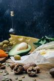 Κετονογενετική διατροφή Χαμηλά παχιά προϊόντα ύψους εξαερωτήρων Υγιή τρόφιμα κατανάλωσης, πρωτεϊνικό λίπος σχεδίων γεύματος υγιής στοκ εικόνα με δικαίωμα ελεύθερης χρήσης