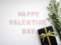 Κιβώτιο δώρων με την ημέρα βαλεντίνων λουλουδιών στοκ εικόνες