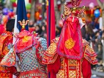Κινεζική νέα παρέλαση εορτασμών έτους στο Παρίσι στοκ εικόνες με δικαίωμα ελεύθερης χρήσης