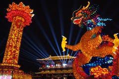 2019 κινεζικό νέο έτος σε Xian στοκ εικόνα με δικαίωμα ελεύθερης χρήσης