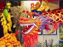 Κινεζικό νέο έτος 2019 Παρίσι Γαλλία - χορός δράκων στοκ εικόνες