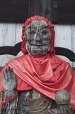 Κλείστε επάνω ενός ξύλινου αγάλματος Binzuru στο ναό Todai-todai-ji στο Νάρα, Ιαπωνία στοκ εικόνα με δικαίωμα ελεύθερης χρήσης