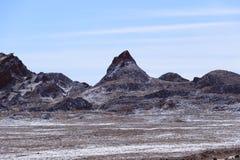 Κοιλάδα του φεγγαριού - Valle de Λα Luna, έρημος Atacama, Χιλή στοκ εικόνα