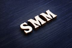 Κοινωνικό μάρκετινγκ μέσων συντμήσεων SMM στοκ φωτογραφίες με δικαίωμα ελεύθερης χρήσης