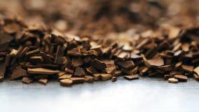 Κοκκοποιημένος στιγμιαίος καφές, μακροεντολή, υπόβαθρο στοκ φωτογραφία