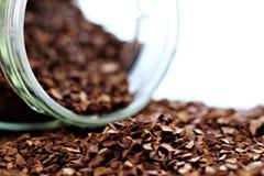 Κοκκοποιημένος στιγμιαίος καφές τόσο κοντά στοκ εικόνες