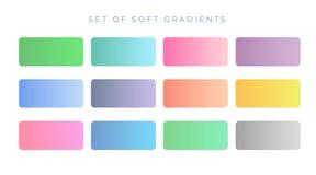 Κομψά μαλακά swatches κλίσης χρώματος διανυσματική απεικόνιση