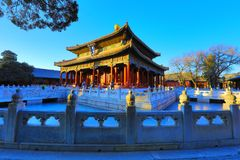 Κομφουκιανικός ναός βισμουθίου YONG HALLBeijing και το αυτοκρατορικό κολλέγιο στοκ φωτογραφίες