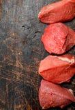 κρέας ακατέργαστο Κομμάτι του κρέατος βόειου κρέατος στοκ εικόνα