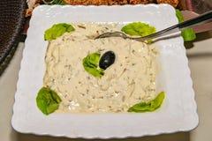 Κρεμώδης σάλτσα μανιταριών στοκ εικόνες