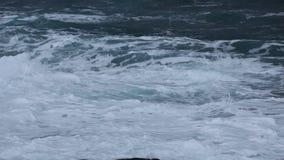 Κύματα θύελλας στη Θάλασσα του Μπάρεντς το χειμώνα τόξων φιλμ μικρού μήκους