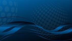 Κύματα και κύκλοι, μουσική και ήχος, υπόβαθρο τεχνολογίας διανυσματική απεικόνιση
