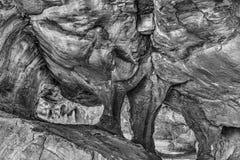 Κύρια σπηλιά Stadsaal στα βουνά Cederberg μονοχρωματικός στοκ εικόνα με δικαίωμα ελεύθερης χρήσης