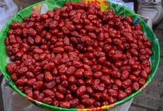 Κόκκινοι ξηροί καρποί ημερομηνίας ημερομηνίας κινεζικοί στοκ φωτογραφία με δικαίωμα ελεύθερης χρήσης