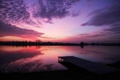 Κόλαση χρώματος στη λίμνη στοκ εικόνες με δικαίωμα ελεύθερης χρήσης