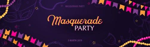 Κόμμα καρναβαλιού gras της Mardi μεταμφίεση Παχιά Τρίτη, φεστιβάλ επίσης corel σύρετε το διάνυσμα απεικόνισης διανυσματική απεικόνιση