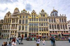 Κτήρια στο μεγάλο τετράγωνο θέσεων στο κέντρο των Βρυξελλών, Βέλγιο στοκ εικόνες