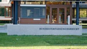 Κυρία είσοδος στο ομοσπονδιακό Συνταγματικό Δικαστήριο Bundesverfassungsgericht απόθεμα βίντεο
