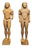 κuros statues - delphi greece stock images