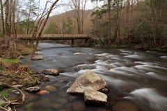 Λίγος ποταμός στο μεγάλο εθνικό πάρκο βουνών Smokey στοκ φωτογραφία