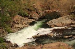 Λίγος ποταμός στο μεγάλο εθνικό πάρκο βουνών Smokey στοκ εικόνα