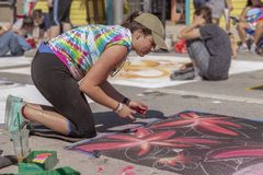 Λίμνη αξίας, Φλώριδα, ΗΠΑ υπέροχο 23-24, φεστιβάλ ζωγραφικής οδών του 2019 25ο ετήσιο στοκ εικόνες με δικαίωμα ελεύθερης χρήσης