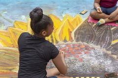 Λίμνη αξίας, Φλώριδα, ΗΠΑ υπέροχο 23-24, φεστιβάλ ζωγραφικής οδών του 2019 25ο ετήσιο στοκ φωτογραφία