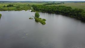Λίμνη Tulovo τοπίων απόθεμα βίντεο
