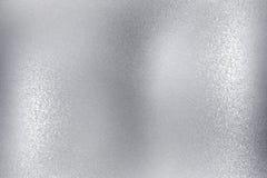 Λαμπρός βουρτσισμένος ασημένιος τοίχος μετάλλων, αφηρημένο υπόβαθρο σύστασης ελεύθερη απεικόνιση δικαιώματος