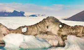 Λειώνοντας πάγος παγετώνων Vatnajokull Ισλανδία Ευρώπη στοκ εικόνα