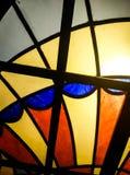 Λεκιασμένα τεχνική γυαλί, μέταλλο και χρώμα στοκ φωτογραφία με δικαίωμα ελεύθερης χρήσης