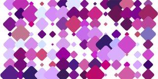 Λευκό BG με τα ζωηρόχρωμα ρόδινα τετραγωνικά στοιχεία διανυσματική απεικόνιση
