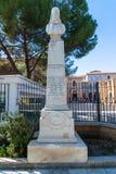Λευκωσία, Κύπρος - 2 Νοεμβρίου 2018 Μνημείο στον Αρχιεπίσκοπο κυπριακά Χτισμένος το 1901 στοκ εικόνες