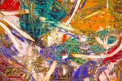 Λεπτομέρεια της ζωγραφικής ελαιοχρώματος στοκ εικόνες
